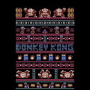 Nintendo Donkey Kong Retro Christmas Pattern Black T-Shirt