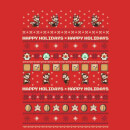 Nintendo Super Mario Mario Happy Holidays Good Guys Christmas Red T-Shirt