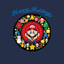 Nintendo Super Mario Mario Happy Holidays Navy T-Shirt