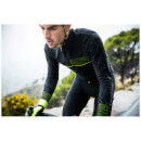 Santini Vega 2.0 Aquazero Long Sleeve Jersey - Black/Yellow