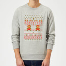 Nintendo Super Mario Mario Ho Ho Ho It's A Me Grey Christmas Sweatshirt