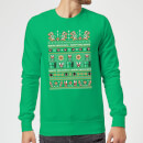 Pull de Noël Homme Nintendo Super Mario - Happy Holidays The Bad Guys - Vert