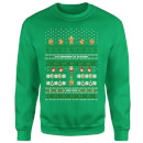 Nintendo The Legend Of Zelda It's Dangerous To Go Alone Green Christmas Sweatshirt