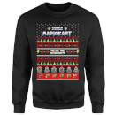 Nintendo Super Mario Mario Kart Here We Go Black Christmas Sweatshirt
