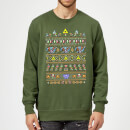 Nintendo The Legend Of Zelda Retro Green Christmas Sweatshirt