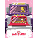 The Simpsons Mr. Plow Variant Silkscreen Print by Acme Archive Artist Florey (18 x 24 Inch) Limited to 100 - Zavvi UK Exclusive
