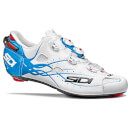 Sidi Shot Matt Road Shoes - Matt White/Light Blue