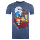The Simpsons Men's Christmas Sleigh T-Shirt - Indigo