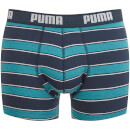 Puma Men's 2 Pack Rugby Stripe Boxers - Ocean Depths