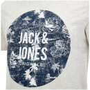 T-Shirt Homme Originals Newport Jack & Jones - Gris Clair Chiné