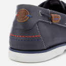 Wrangler Men's Ocean Leather Boat Shoes - Navy