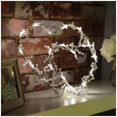 Lyyt Two Hearts LED Metal Motif - Warm White