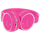 AV: Link Wireless Bluetooth On-Ear Noise Cancelling Headphones (With Built-in FM Radio) - Pink