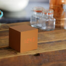Gingko Cube Click Clock - Copper