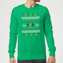 Star Wars Yoda Christmas Knit Green Christmas Sweatshirt