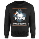 Disney Frozen Christmas Olaf And Snowmens Black Christmas Sweatshirt