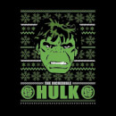 Marvel Comics The Incredible Hulk Retro Face Black Christmas Sweatshirt
