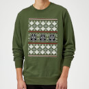 Star Wars Christmas Darth Vader Imperial Starship Knit Green Christmas Sweatshirt