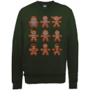 Star Wars Gingerbread Characters Green Christmas Sweatshirt