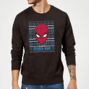 Marvel Comics The Amazing Spider-Man Face Black Christmas Sweatshirt
