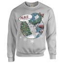 DC Comics Originals Superman Peace On Earth Grey Christmas Sweatshirt