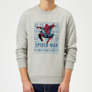 Marvel Comics Spider-Man Leap Knit Grey Christmas Sweatshirt