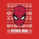 Marvel Comics The Amazing Spider-Man Face Red Christmas Sweatshirt