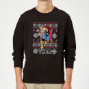 Marvel Comics The Mighty Thor Christmas Knit Black Christmas Sweatshirt