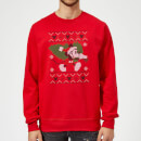 Disney Mickey Mouse Christmas Tree Mickey Red Christmas Sweatshirt