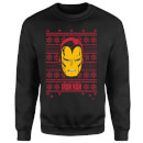 Marvel Comics The Invincible Ironman Face Black Christmas Sweatshirt