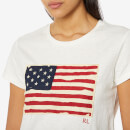 Polo Ralph Lauren Women's Flag T-Shirt - Cream