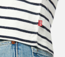 Levi's Men's Long Sleeve Mission T-Shirt - Plaited Stripe Marshmallow/Dress Blues