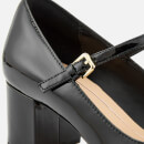 Clarks Women's Orabella Fern Patent T-Bar Block Heels - Black