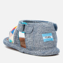 TOMS Babies' Shiloh Sandals - Blue Slub Chambray/Tribal