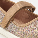 TOMS Toddlers' Mary Jane Flats - Gold Iridescent Glimmer