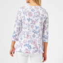 Joules Women's Soleil Stripe Layering Top - White Indienne Floral