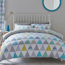 Catherine Lansfield Geo Triangles Duvet Set