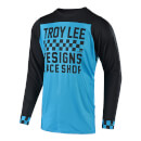 Troy Lee Designs Skyline Long Sleeve Checker Jersey - Ocean/Black