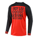 Troy Lee Designs Skyline Long Sleeve Checker Jersey - Red/Black