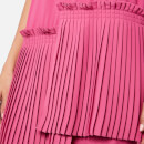 MM6 Maison Margiela Women's Pleated Panel Dress - Fuxia