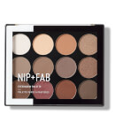 NIP+FAB Make Up Eyeshadow Palette - Sculpted 12g