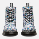 Dr. Martens Toddlers' Castel Canvas Finn Print Lace Low Boots - Blue/White