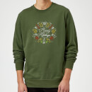Hoppy Holidays Sweatshirt - Forest Green