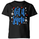 Let it Snow Kids' T-Shirt - Black