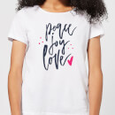 Peace Joy Love Women's T-Shirt - White