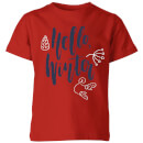 Hello Winter Kids' T-Shirt - Red