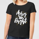 Merry and Bright Women's T-Shirt - Black