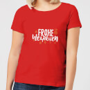 Frohe Weihnachten Women's T-Shirt - Red