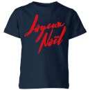 Joyeux Noel Holly Jolly international Kids' T-Shirt - Navy