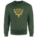 Felices Fiestas Reindeer Sweatshirt - Forest Green